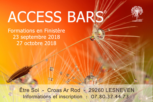 Access Bars Finistere 23/09/2018 et 27/10/2018